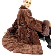 L XL Samtnerz Nerzjacke Nerz Pelzjacke geschoren shorn mink fur coat Fuchs Fox