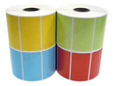 40 Rolls 2.25 x 1.25 Direct Thermal Zebra Labels RED BLUE YELLOW GREEN 10 Each