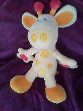 doudou vache girafe BABYSUN BABY SUN jaune 30CM GRELOT HOCHET