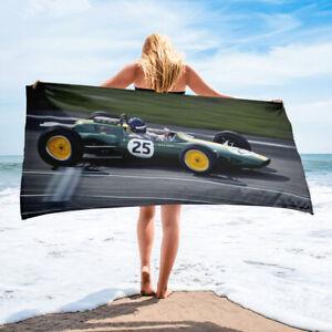 Car Racing Bath or Beach Towel Race Green