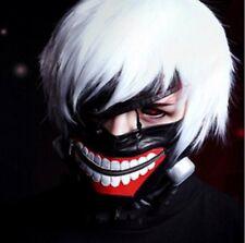 Tokyo Ghoul Kaneki Ken Anime Leather Halloween Cosplay mask Black Adjustable