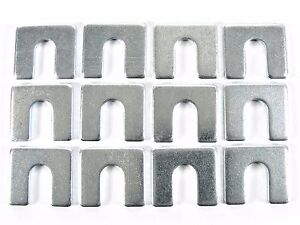 "Jeep Body & Fender Alignment Shims- 1/8"" Thick- 3/8"" Slot- 12 shims- #399"