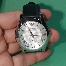 Emporio Armani Wrist Dress Men Watch AR1984 Round Silver Color Analog Japan NWT