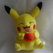 "Pikachu with apple Pokemon Plush Doll 12"" Large Soft Toy"