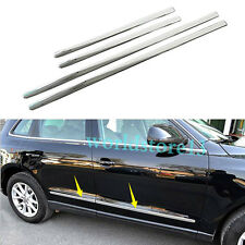 ABS Chrome Body Side Door Molding Cover Trim 4pcs Fit For Audi Q5 2009-2015