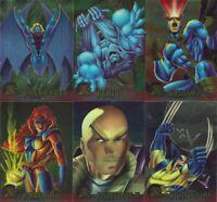 X-Men Ultra Chromium Complete 100-Card Base Set + Wolverine Promo (Fleer, 1995)