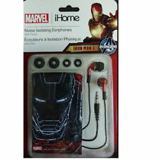 IRON MAN 3 Noise Isolating Earphones iHome Marvel Avengers with Pouch