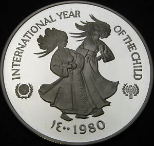 UNITED ARAB EMIRATES 50 Dirhams 1980 Proof - Silver - Year of the Child - 2873 ¤