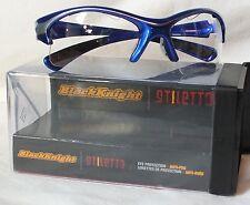 New Black Knight Stiletto eyewear blue/silver