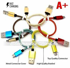 LOT of 5- 3FT Micro USB A to USB 2.0 B Braided Fast Data Sync Charger Cable Cord