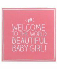 Happy Jackson Card: Welcome Beautiful Baby Girl - New In Cello (GF836B)