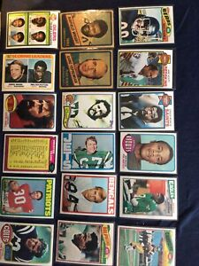 Lot of 18 Different 1970s Football - Payton, Alzado, Fouts