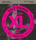 D'Addario ENR71SL Half Round Bass Strings, Extra Long, Light 45-100 for sale