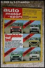 AMS Auto Motor Sport 8/74 Fiat 132 GLS 128 Rally VW Passat Skoda 110