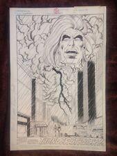 Original Comic Art Signed By Janke** Firestorm #60 splash page 22