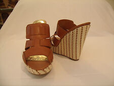 "BCBG ""Gail"" (N.W.B.) 5"" Wedge Heel Slide Mule•Leather Upper•Sz 8M NWB."