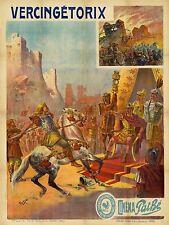 Cinematográfico ad Vintage Vercingetorix la Galia Roma Alesia Pathe impresión Cartel lf264