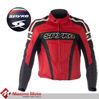 Chaqueta de cuero de moto SPYKE KAVER GP,Chaqueta de Moto Leather jacket for Men