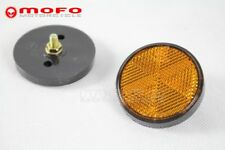 Round Amber Reflector SIde Marker Universal For Motorcycle ATV Truck Trailer