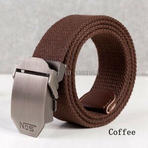 Men Canvas Belt Military Strap Waist Belts Webbing Adjustable Buckle Plus Size