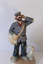 Emmett Kelly Jr Mailman Clown, Flambro, Vintage, Porcelain