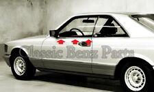 Mercedes W126 Coupe 500 SEC 560 SEC Window Outside Seals Rubber Scraper Brushes