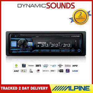 Alpine UTE-202DAB Digital Media DAB Receiver Aux USB Android iPhone Car Stereo