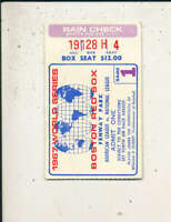 1967 World Series red Sox Ticket Gm1 ex (crease)