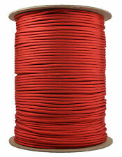Red - 550 Paracord Rope 7 strand Parachute Cord - 1000 Foot Spool