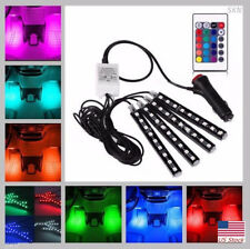 Us Rgb Led Glow Interior Car Lamp Kit Under Dash Foot Well Seats Inside Lighting (Fits: Scion xA)