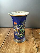 ANTIQUE CARLTON WARE MIKADO 2364 PATTERN 217 SHAPE VASE CHINOISERIE BLUE GILDED