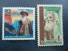 John Muir USPS  Stamps #1245 & 3182j