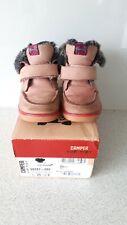 Camper Girls Pink Leather Fur Lined Ankle Boots Eur 25