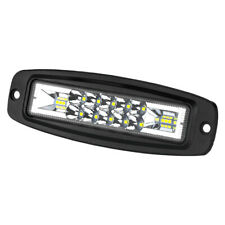 Flush Mount 7in LED Work Light Bar Flood Spot Combo Fog Offroad SUV ATV Pod Lamp