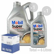 Engine Oil and Filter Service Kit 6 LITRES Mobil Super 3000 X1 5W-40 6L