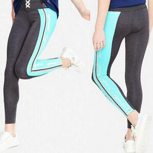 NWT JUSTICE Sport Club GYMNAST Girls Leggings Dark Grey/Mint SELECT SIZE