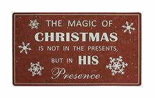 "The Magic of Christmas Holiday Greeting Welcome Door Entrance Mat 28"" x 17"""