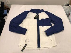 NWT $110.00 Nike Mens Golf Shield Statement Jacket White / Navy Size SMALL