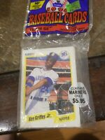 Fleer 1990 Baseball Cards, Seattle Mariners Team Set, Unopened, Ken Griffey Jr.