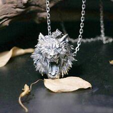 Kette Wolf Wolfskopf 316 L Edelstahl  Halskette + Anhänger Neu