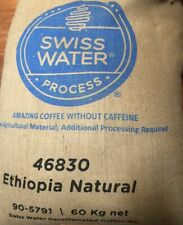 5 lbs Ethiopia Natural Blend DECAF Green Coffee Beans Swiss Water Process 2020