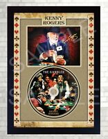 Kenny Rogers The Gambler SIGNED Photo print presentation CD DISC