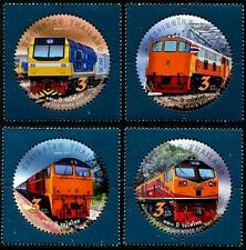 Trains mnh set of 4 round stamps 2017 Thailand 120th Anniversary State Railway