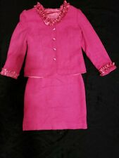 GIRLS PAGEANT INTERVIEW SUIT PINK SZ 10/12