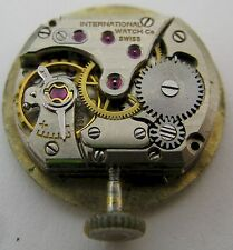 Lady IWC 41 17 jewels watch movement & gilt dial for part ...