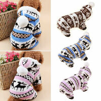 Soft Fleece Winter Dog Clothes Adorable Pajamas Coat Puppy Jumpsuit Pet Apparel