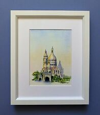 "Original Framed Watercolour ""Sacre Coeur Basilica"" Montmarte, Paris, France"