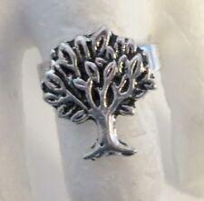 GOTHIC ANELLO REGOLABILE ALBERO DELLA VITA WICCA YGGDRASIL TREE OF LIFE 19X17MM