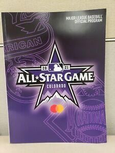 ***2021 MLB ALL STAR GAME Official Program Gameday ASG Colorado***