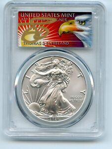2021 (S) $1 Silver Eagle 1oz Dollar Emergency PCGS MS70 FS Cleveland Eagle